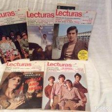 Coleccionismo de Revistas: LOTE DE REVISTAS LECTURAS AÑOS 60. Lote 103536103