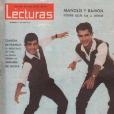 Collectionnisme de Magazines: LECTURAS Nº 588 - 1963 - DUO DINAMICO - FRANÇOISE HARDY/ MUNDI/REVISTA-56. Lote 103654847