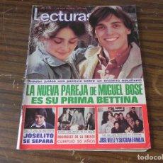 Coleccionismo de Revistas: LECTURAS 07/04/1978 MIGUEL BOSE - JOSELITO - RODRÍGUEZ DE LA FUENTE - JOSÉ VELEZ. Lote 103845355