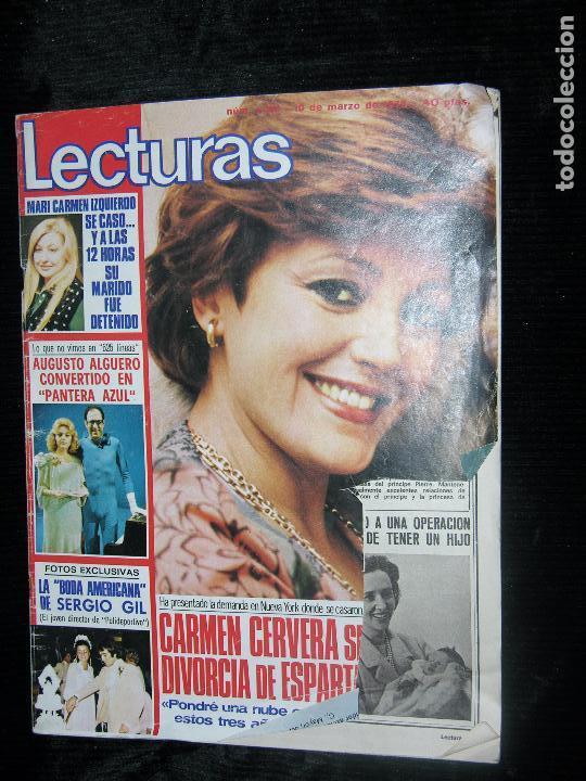 LECTURAS 1351 AÑO1978 BARBARA REY Y SANCHO GRACIA,LA CHANA,LORENZO SANTAMARIA PORTADA ROTA (Coleccionismo - Revistas y Periódicos Modernos (a partir de 1.940) - Revista Lecturas)