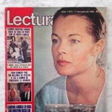 Coleccionismo de Revistas: LECTURAS - 1982 - ROMY SCHNEIDER, DALLAS, UN DOS TRES, ANA OBREGÓN, CHARLES MANSON, CHIQUETETE. Lote 104770587