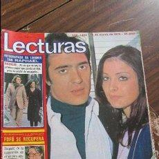 Coleccionismo de Revistas: LECTURAS 19/03/1976 RAPHAEL - AMPARO MUÑOZ Y PATXY ANDION - FOFO - ALFREDO AMESTOY. Lote 105754343