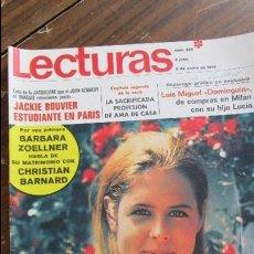 Coleccionismo de Revistas: LECTURAS 09/01/1970 LUIS MIGUEL DOMINGUIN - JACKIE BOUVIER - BARBARA ZOELLNER. Lote 105754871