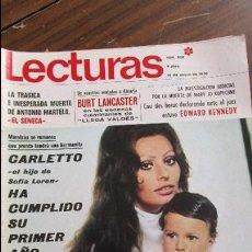 Coleccionismo de Revistas: LECTURAS 16/01/1970 SOFIA LOREN - BURT LANCASTER - ESWARD KENNEDY - ANTONIO MARTELO EL SENECA. Lote 105985619