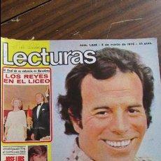 Coleccionismo de Revistas: LECTURAS 05/03/1976 JULIO IGLESIAS - JOSE LUIS ARRASATE - SERRAT - LOS REYES EN EL LICEO. Lote 105985767
