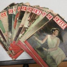 Coleccionismo de Revistas: 21 REVISTA SEMANA AÑO1948 N 413-416-417-419-420-421-422-425-426-435-436-437-438-439-440-445-451 A455. Lote 107836755