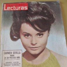 Coleccionismo de Revistas: REVISTA LECTURAS JULIO 1964 PORTADA ROCIO DURCAL SARA MONTIEL MARISOL GRACE KELLY LOS SIREX RAPHAEL . Lote 107855879