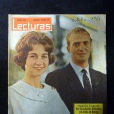 Coleccionismo de Revistas: REVISTA LECTURAS, Nº 508, AÑO 1961. PROXIMA BODA JUAN CARLOS DE BORBON CON SOFÍA DE GRECIA. Lote 107947407