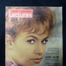 Coleccionismo de Revistas: REVISTA LECTURAS, Nº 509, AÑO 1961. JEANNE VALERIE. LOS REYES DE GRECIA Y SUS HIJOS. Lote 107947439