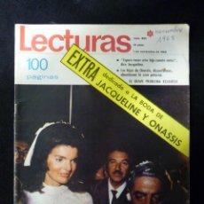 Coleccionismo de Revistas: REVISTA LECTURAS, Nº 863, AÑO 1968. EXTRA DEDICADO A LA BODA DE JACQUELINE Y ONASSIS. Lote 107947539
