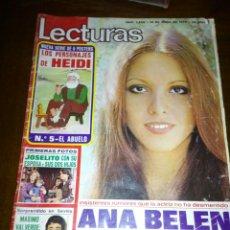 Coleccionismo de Revistas: REVISTA LECTURAS, 1976, ANA BELEN, JOSELITO. Lote 109183060