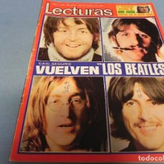 Coleccionismo de Revistas: REVISTA LECTURAS 29/03/1974 LOS BEATLES - NINO BRAVO - MARI TRINI - ROCIO DURCAL. Lote 109501303
