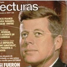 Coleccionismo de Revistas: LECTURAS, 25 DE NOVIEMBRE DE 1983. PORTADA: 20 AÑOS DESPUÉS DEL ASESINATO DE JOHN F. KENNEDY. Lote 109859647