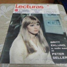 Coleccionismo de Revistas: REVISTA LECTURAS 10/02/1967 EL CORDOBES - ANTONIO GADES - URSULA ANDRESS. Lote 110150267