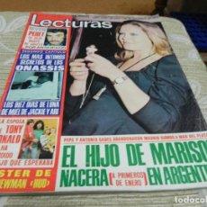 Coleccionismo de Revistas: REVISTA LECTURAS 22/11/1974 MARISOL - PERET - TONY RONALD. Lote 110150515