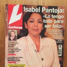 Coleccionismo de Revistas: REVISTA LECTURAS 20-03-1998, PORTADA ISABEL PANTOJA. Lote 110263103