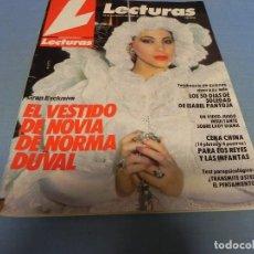 Coleccionismo de Revistas: REVISTA LECTURAS 30/11/1984 NORMA DUVAL - ISABEL PANTOJA 105 DIAS DE SOLEDAD - SILVIA MARSO. Lote 110389887