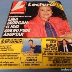 Coleccionismo de Revistas: REVISTA LECTURAS 11/08/1989 ISABEL PREYSLER - JULIO IGLESIAS - Mª JOSE CANTUDO - LINA MORGAN - CAROL. Lote 110390447