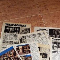 Coleccionismo de Revistas: ARTICULOS DE PRENSA SOBRE UN DOS TRES MAYRA KIKO LEDGARD VICTORIA ABRIL AZAFATAS TV TVE. Lote 112697999
