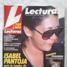 Coleccionismo de Revistas: LECTURAS - 1985 - ISABEL PANTOJA, SILVIA TORTOSA, DEBBIE ALLEN, ESTEFANÍA, EL SORO, MADONNA. Lote 43663302
