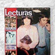 Coleccionismo de Revistas: LECTURAS - 1977 FELIPE GONZALEZ, LORENZO SANTAMARIA, ALBERT HAMMOND, JULIO IGLESIAS, JOHNNY HALLYDAY. Lote 117558751