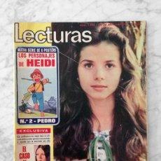 Coleccionismo de Revistas: LECTURAS - 1976 VICTORIA ABRIL, AKIRA ITO, SHAFT, SERRAT, SANDRA MOZAROWSKY, ROCIO JURADO, PAU RIBA. Lote 117612083