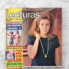 Coleccionismo de Revistas: LECTURAS - 1975 - INGER NILSSON, AMPARO MUÑOZ, MARISOL, MARIA JOSE CANTUDO, JUAN PARDO, EMILIO JOSE. Lote 117755047