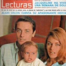 Coleccionismo de Revistas: REVISTA LECTURAS Nº 748, AGOSTO 1966, ALAIN DELON Y FAMILIA. Lote 117836583
