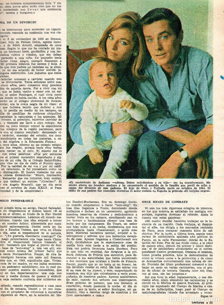 Coleccionismo de Revistas: Revista Lecturas nº 748, agosto 1966, Alain Delon y familia - Foto 2 - 117836583