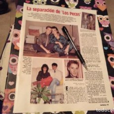 Coleccionismo de Revistas: ANTIGUO RECORTE REVISTA LECTURAS 1985 2 PAGINAS LA SEPARACION DE LOS PECOS JAVI Y PEDRO. Lote 118299507