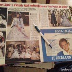 Coleccionismo de Revistas: ANTIGUO RECORTE REVISTA LECTURA AÑO 85 CHARO LOPEZ Y VICTORIA ABRIL LOS PAZOS DE ULLOA. Lote 118372555