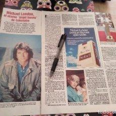 Coleccionismo de Revistas: ANTIGUO RECORTE REVISTA LECTURAS AÑO 85 MICHAEL LANDON AUTOPISTA HACIE EL CIELO. Lote 118378299