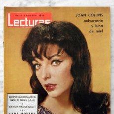 Coleccionismo de Revistas: LECTURAS - 1964 - JOAN COLLINS, JOSEPHINE BAKER, SARA MONTIEL, VALENTINA TERESHKOVA, TONY CURTIS. Lote 62119212