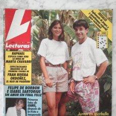 Coleccionismo de Revistas: LECTURAS - 1991 EMILIO SANCHEZ VICARIO Y CHABELI, POLI DIAZ, LOLA FLORES, RAPHAEL, MAYRA GOMEZ KEMP. Lote 47058578