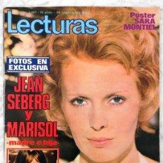 Coleccionismo de Revistas: LECTURAS - 1972 - JEAN SEBERG Y MARISOL, JM SERRAT, MOCEDADES, SARA MONTIEL, LA CHUNGA, SOFÍA LOREN. Lote 58484884