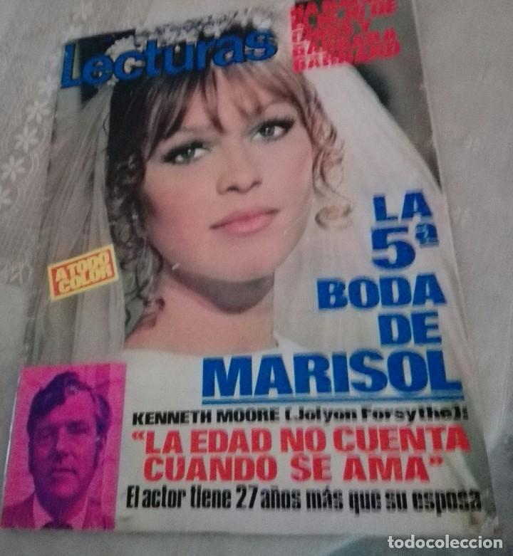 REVISTA LECTURAS LA QUINTA BODA DE MARISOL.AÑO 1971 (Coleccionismo - Revistas y Periódicos Modernos (a partir de 1.940) - Revista Lecturas)