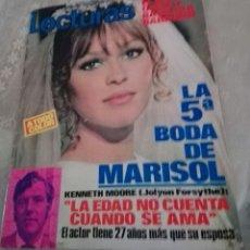 Coleccionismo de Revistas: REVISTA LECTURAS LA QUINTA BODA DE MARISOL.AÑO 1971. Lote 119554435