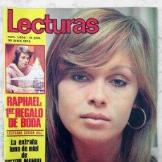 Coleccionismo de Revistas: LECTURAS - 1972 - MARISOL, TOPOL, VÍCTOR MANUEL Y ANA BELÉN, RAPHAEL, SERRAT, JULIÁN MATEOS, CECILIA. Lote 53848844