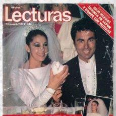 Coleccionismo de Revistas: LECTURAS - 1983 - BODA DE ISABEL PANTOJA Y PAQUIRRI, REMEDIOS AMAYA, JULIO IGLESIAS, SARA MONTIEL. Lote 93882845