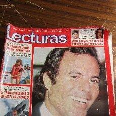 Coleccionismo de Revistas: LECTURAS JULIO 1979 - JULIO IGLESIAS - CLAUDIA CARDINALE - PRINCIPE FELIPE. Lote 121361239