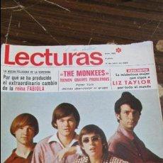 Coleccionismo de Revistas: LECTURAS ABRIL 1969 - THE MONKEES - PRINCESA MARGARITA - LIZ TAYLOR. Lote 121373459