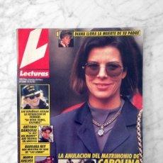 Coleccionismo de Revistas: LECTURAS - 1992 CAROLINA, SARA MONTIEL, ISABEL PANTOJA, ANTONIO BANDERAS, JESUS VAZQUEZ, ANA OBREGON. Lote 121510871
