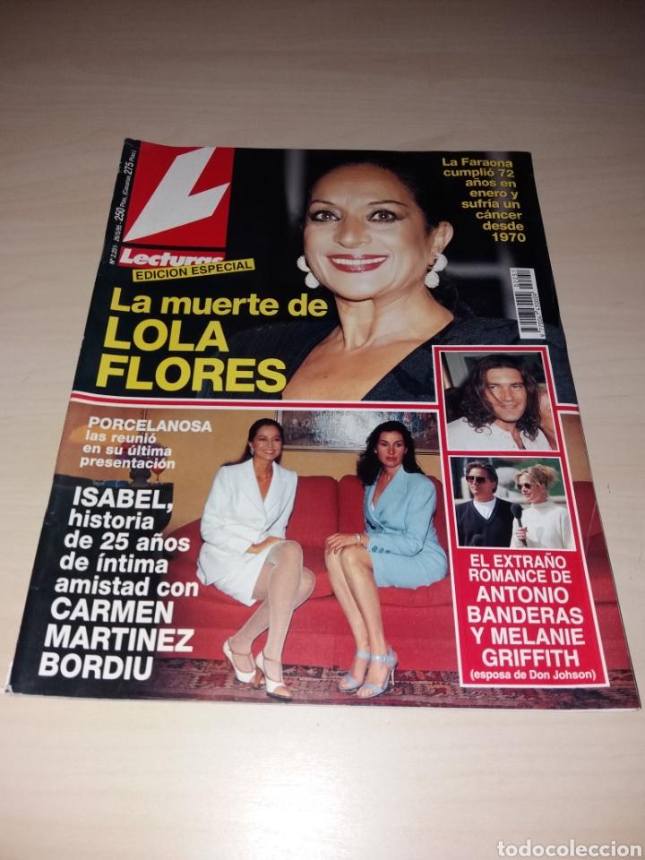 ANTIGUA REVISTA LECTURAS - MAYO 1995 - LA MUERTE DE LOLA FLORES (Coleccionismo - Revistas y Periódicos Modernos (a partir de 1.940) - Revista Lecturas)