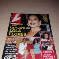 Coleccionismo de Revistas: ANTIGUA REVISTA LECTURAS - MAYO 1995 - LA MUERTE DE LOLA FLORES. Lote 121643858