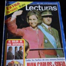 Coleccionismo de Revistas: REVISTA LECTURAS. EXTRA Nº 1233. 5 DICIEMBRE 1975. JUAN CARLOS Y SOFÍA REYES DE ESPAÑA. Lote 122708695