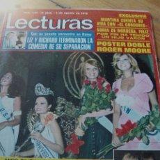 Coleccionismo de Revistas: LECTURAS 1973 ROCÍO DÚRCAL JUNIOR BRUNO LOMAS VICENTE PARRA LAURA VALENZUELA TONY RONALD. Lote 124911099