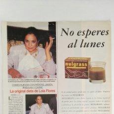 Coleccionismo de Revistas: RECORTE REVISTA LECTURAS LOLA FLORES CARMEN SEVILLA 3/6/94 CLIPPING. Lote 125049031