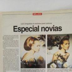 Coleccionismo de Revistas: RECORTE ESPECIAL PEINADOS DE NOVIA LLONGUERAS 1994. Lote 125050886