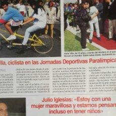 Coleccionismo de Revistas: RECORTE JULIO IGLESIAS MIRANDA REVISTA LECTURAS 14/10/94 CLIPPING. Lote 125054591