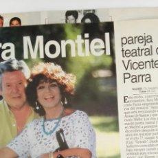 Coleccionismo de Revistas: RECORTE REVISTA LECTURAS SARA MONTIEL VICENTE PARRA 14/10/94 2 HOJAS CLIPPING. Lote 125056116